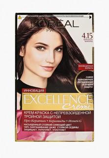 """Краска для волос LOreal Paris LOreal """"Excellence"""", стойкая, оттенок 4.15, Морозный шоколад"""