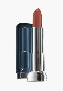 Помада Maybelline New York для губ увлажняющая Color Sensational Матовое Искушение, оттенок 932 Темно-песчаный, 4,4 г