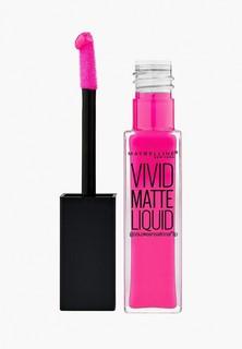 """Помада Maybelline New York для губ жидкая матовая """"Vivid Matte"""", оттенок 15, Дерзкий розовый, 7,7 мл"""