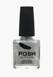 Гель-лак для ногтей Posh Гибрид без УФ лампы шёлк Тон 12S серебрянная луна