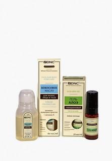 Набор для ухода за телом DNC кокосовое масло для лица, волос и тела, 60 мл + гель гиалуроновый Алоэ, 20 мл