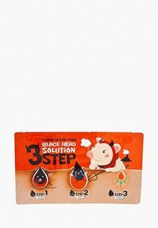 Патчи для носа Elizavecca BLACK HEAD SOLUTION 3-х ступенчатый очищающий , 6 г