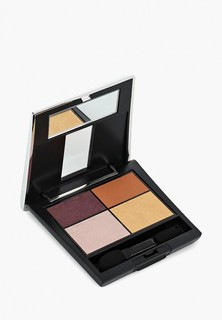 Тени для век Make Up Factory 4-х цветные Eye Colors т.89А, баклажан/бронза/светло бежевый/золото