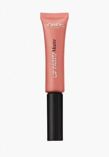 """Помада LOreal Paris LOreal Infaillible """"Lip Paint"""", жидкая краска для губ, матовая, оттенок 211, Согревающий какао, 8 мл"""
