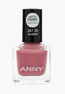 Лак для ногтей Anny тон 247.30 с эффектом матовой пудры, темно-розовый