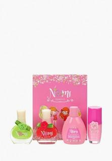 Набор косметики Nomi Лак для ногтей №14 и 18, Жидкость для снятия лака, Блеск для губ