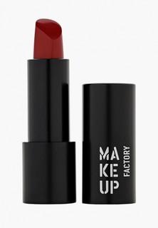 Помада Make Up Factory Устойчивая полуматовая для губ Magnetic Lips semi-mat&long-lasting тон 386 пунцовый