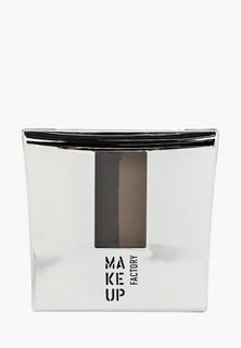 Тени для бровей Make Up Factory с трафаретом Eye Brow Powder тон 1 интенсивный коричневый