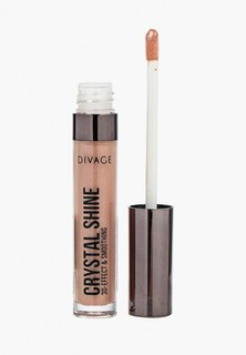 Блеск для губ Divage с сияющими частицами Lip Gloss Crystal Shine № 02