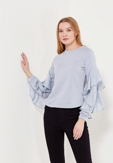 Свитшот LOST INK CHIFFON INSERT SLEEVE SWEAT