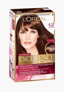 Краска для волос LOreal Paris LOreal Excellence Creme оттенок 4.32 Золотистый каштановый