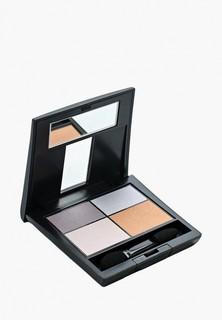 Тени для век Make Up Factory Матовые Mat Eye Colors т.580 т.серый, серый, светло бежевый, терракот