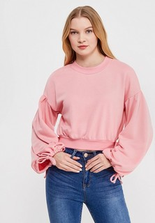 Свитшот LOST INK RIBBON TRIM CROP SWEAT