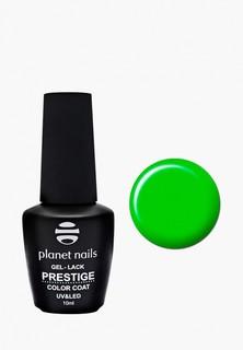 """Гель-лак для ногтей Planet Nails Planet Nails, """"PRESTIGE"""" - 534, 10 мл кислотный зеленый"""