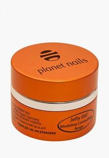 Гель-лак для ногтей Planet Nails 11075 Modeling Camouflage Beige Jelly Gel камуфлирующий, бежевый