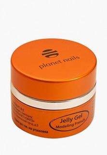 Гель-лак для ногтей Planet Nails 11079 Modeling French Gel высокой степени вязкости, ярко-белый