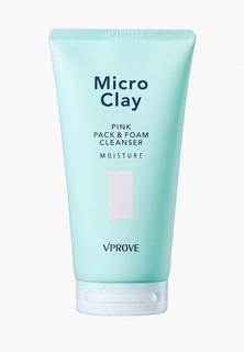 Маска для лица Vprove пенная Micro Clay с розовой глиной, увлажняющая, 150 мл