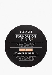 Пудра Gosh Gosh! компактная кремовая Foundation Plus, 9 г, 004 натуральный