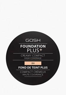 Пудра Gosh Gosh! компактная кремовая Foundation Plus, 9 г, 004 натуральный компактная кремовая Foundation Plus, 9 г, 004 натуральный