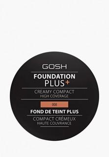 Пудра Gosh Gosh! компактная кремовая Foundation Plus, 9 г, 008 золотой компактная кремовая Foundation Plus, 9 г, 008 золотой