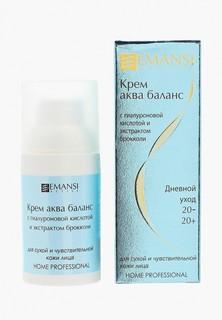 Крем для лица Emansi аква баланс с гиалуроновой кислотой и экстрактом брокколи для сухой и чувствительной кожи, 30 мл