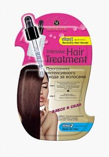 Набор для ухода за волосами Skinlite интенсивного ухода БЛЕСК И СИЛА (сыворотка+маска), 6 мл + 18 мл, набор из 2 уп