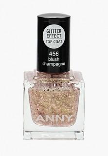 Лак для ногтей Anny тон 456 и розово-золотистые блестки