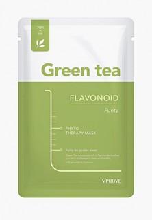 Маска для лица Vprove Phyto Therapy с зеленым чаем, матирующая, 20 г
