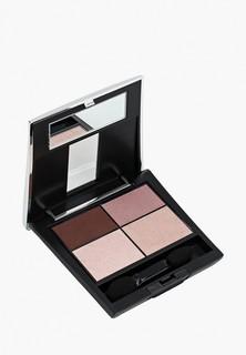 Тени для век Make Up Factory 4-х цветные Eye Colors т.86, коричневый баклажан/сиреневый/розовый/бежевый