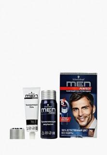 Краска для волос Men Perfect Тонирующий гель для мужчин Темно-каштановый 70, 80 мл