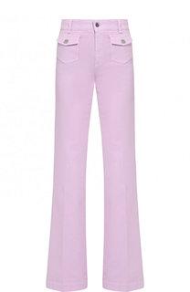 Расклешенные джинсы со стрелками и накладными карманами Stella McCartney