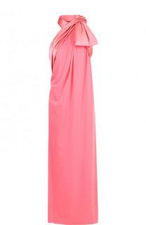 Однотонное платье-макси с высоким разрезом Marc Jacobs