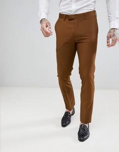 Узкие фактурные брюки Harry Brown - Коричневый