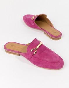 Кожаные лоферы ASOS DESIGN - Розовый