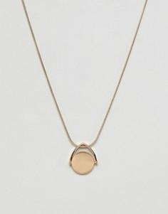 Золотистое ожерелье с подвеской Burton Menswear - Золотой