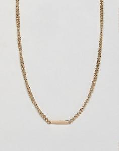 Золотистое ожерелье-цепочка Burton Menswear - Золотой