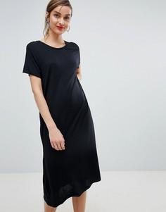 Трикотажное платье миди Selected Femme - Черный