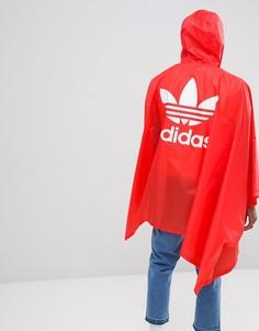 Красное пончо adidas Originals DH5817 - Красный
