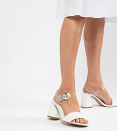 Босоножки на блочном каблуке для широкой стопы ASOS DESIGN - Белый