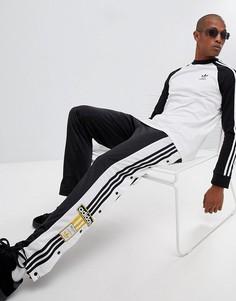 Черные джоггеры на кнопках по бокам adidas Originals adibreak CZ0679 - Черный