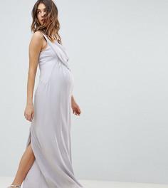 Эксклюзивное платье макси ASOS DESIGN Maternity - Серый