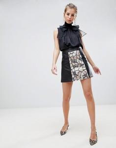 Мини-юбка с пайетками Traffic People - Черный