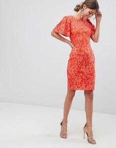 Платье-футляр с рукавами клеш Paper Dolls - Оранжевый