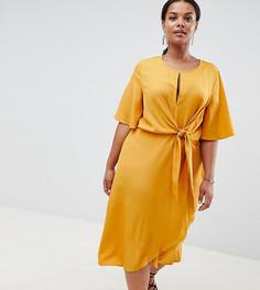 Платье с узлом Missguided Plus - Золотой