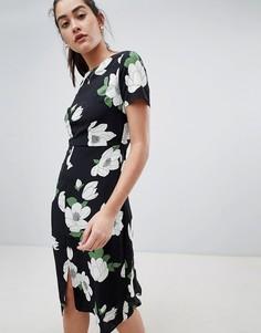 Платье миди с цветочным узором Sugarhill Boutique cassie - Мульти