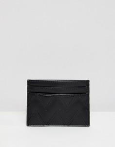 Стеганый кошелек для карт ASOS DESIGN - Черный