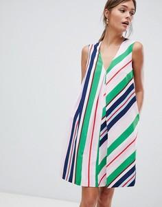 Платье-туника в полоску Ted Baker - Мульти
