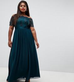 Платье макси с вышивкой Coast Plus Maddie - Зеленый