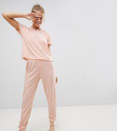 Трикотажная пижама с брюками Hey Peachy - Розовый