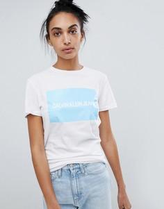 Белая футболка с логотипом Calvin Klein Jeans - Белый